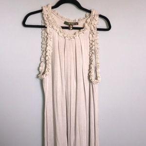 Kische - Tan Flowing Dress with Ruffles Size 2X